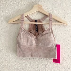 BETSEY JOHNSON MAUVE RACERBACK SPORTS BRA (0766)